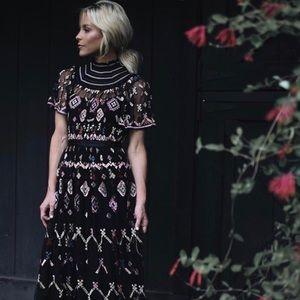 Needle & Thread Florentine Tulle Gown Dress US 8